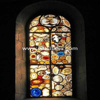 教堂玻璃w-j-8017