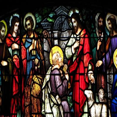 教堂玻璃w-j-8008