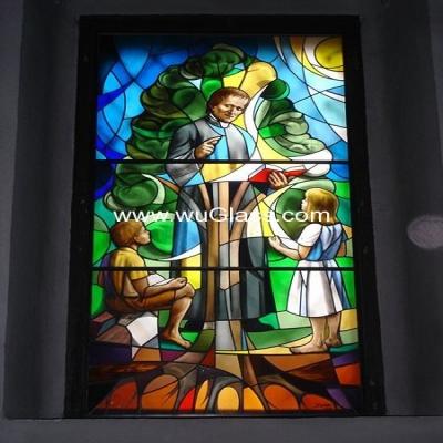 教堂玻璃w-j-8016