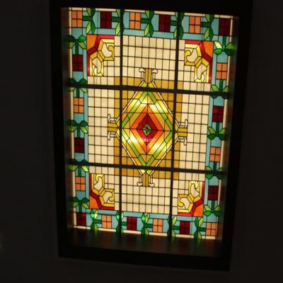 彩绘穹顶玻璃W-D-6021